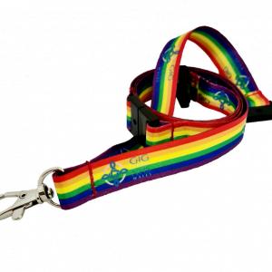 GIG Cymru Rainbow Lanyard